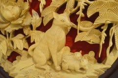 Woodcarving rękodzieło Zdjęcie Royalty Free