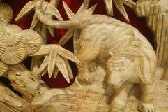 Woodcarving rękodzieło Obrazy Royalty Free
