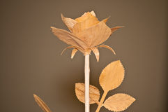 Woodcarving rose Royalty Free Stock Image