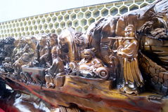 Woodcarving, in shenzhen of china Stock Images