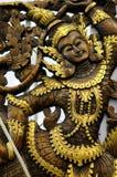 Woodcarving statua religijna kobieta Fotografia Royalty Free