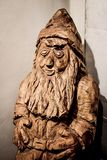 Woodcarving of a Troll - Vesterheim Stock Photo
