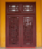 Woodcarving windows Royalty Free Stock Images