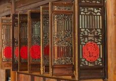 Woodcarving windows Stock Photos