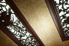 Woodcarvingfenster Lizenzfreie Stockfotografie