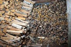 Woodched à l'intérieur Images stock