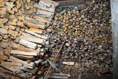 Woodched binnen Stock Afbeeldingen