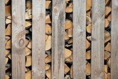 Woodched draußen Stockbilder