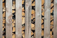Woodched outside Stock Images