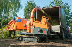 Woodchipper stock images