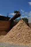 Woodchips pile up Royalty Free Stock Photos