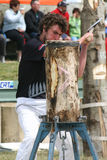 Woodchopper σε έναν ανταγωνισμό, Νέα Ζηλανδία Στοκ εικόνες με δικαίωμα ελεύθερης χρήσης
