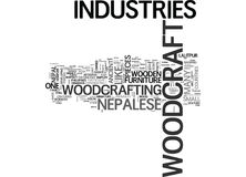 Woodcraft Industries Wooden Bridges From The Past Word Cloud Royalty Free Stock Photo