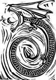 woodcut дракона Стоковые Фото