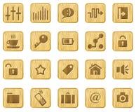 woodcut иконы установленный Стоковая Фотография RF