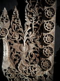 Woodcut art at BAANDAMthe Black house fantasy style art installation Royalty Free Stock Photos