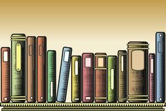 Woodcut books Royalty Free Stock Photo