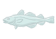 Woodcut cod Stock Images