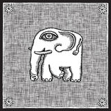 Woodcut do elefante Fotografia de Stock Royalty Free