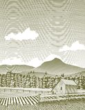 Woodcut Idaho Barn Royalty Free Stock Images
