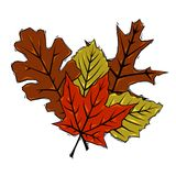 Woodcut leaves Royalty Free Stock Photos