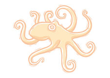 Woodcut octopus Royalty Free Stock Photography