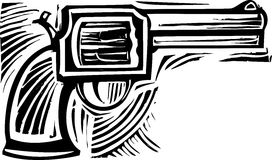Woodcut Pistol Royalty Free Stock Photo