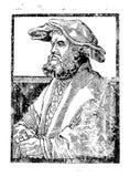 woodcut Porträt eines Mannes in einem Hut Mittelalterliche Grafiken Grafische Künste Hohes Drucken Alter Stich kunstprodukt Weinl stock abbildung