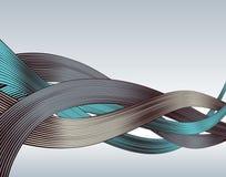 Woodcut ribbons Royalty Free Stock Image