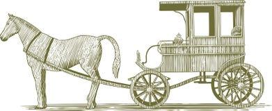 Woodcut statek Zdjęcie Stock