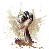 Woodcut style fist Royalty Free Stock Images