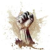 Woodcut style fist vector illustration