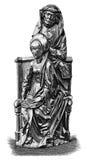 woodcut woodblock печати театральной ложа пар Стоковые Изображения