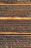 Woodcuts usados para livros de oração budistas da impressão imagens de stock