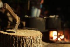 Woodcutter пролома обеда Стоковые Фотографии RF