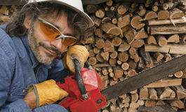 Woodcutter Royalty Free Stock Photos
