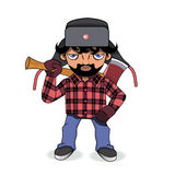 Woodcutter. Adult lumberjack with an axe Stock Image