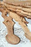 Woodden lepelt 2 Stock Afbeeldingen