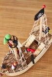 Woodden piratkopierar skeppleksaken arkivfoton