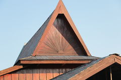 Woodden Roof Stock Images