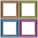 Woode frame isolated. Wooden frame isolated on white, set Royalty Free Stock Images