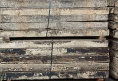 Wooded beams Royalty Free Stock Images