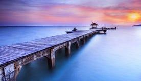 Wooded bridge Royalty Free Stock Images