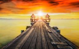 Wooded bridge i Stock Photo
