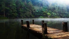 Wooded bridge Stock Image