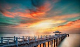 Wooded bridge Stock Images