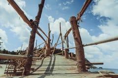 Wooded bridge Royalty Free Stock Photos