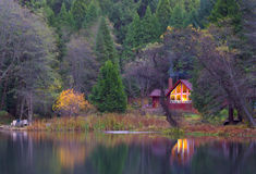 The wooded Cabin Royalty Free Stock Photography