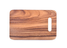 Wooded chopping board on white background Royalty Free Stock Photo