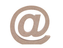 Wooded email symbol Stock Photo
